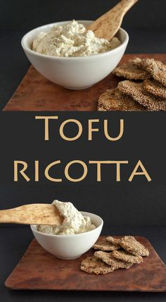 Tofu Ricotta (vegan, gluten free) – This vegan ricotta is delicious in lasagna or on crackers. Tofu Ricotta (vegan, gluten free) – This vegan ricotta is delicious in lasagna or on crackers. Vegan Cheese Recipes, Vegan Sauces, Vegan Foods, Vegan Dishes, Dairy Free Recipes, Vegetarian Recipes, Gluten Free, Firm Tofu Recipes, Vegan Lasagna Recipe