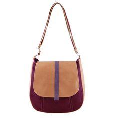 Messengerbags - SASHKA - Umhängetasche - Kastanienbraun und beige - ein Designerstück von INCAT bei DaWanda
