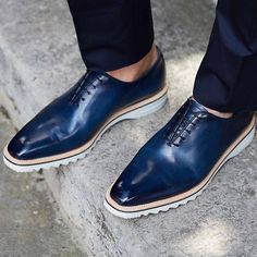 """Introducing our new """"Alessandro Spada"""" shoes, made with a single piece of leather! #Berluti #SS17 #ShoePorn"""
