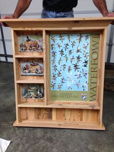 Heart pine shelf unit for The Fayette GeorgiA chapter of ducks unlimited. By the redneck designers