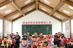 Shigeru Ban - Hualin Temporary Elementary School, Chengdu, China, 2008