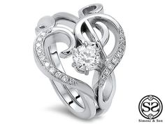 The Treble B Clef Ring Simone Son Orange County Custom Jewelry Music Themed Weddingsbeautiful