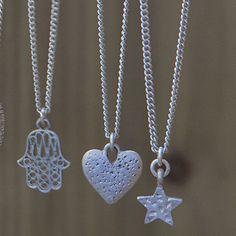Tutti & Co Tia Short Silver Heart Pendant Necklace|lizzielane.co.uk £12