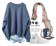 """""""Untitled #668"""" by jenxorose ❤ liked on Polyvore featuring Converse, Jean-Paul Gaultier and Zeiss"""