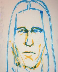 1mindrawさんはInstagramを利用しています:「#1mindraw #toddrundgren #トッドラングレン #isawthelight #19480622 #birthday #誕生日 #portrait #筆ペン画」