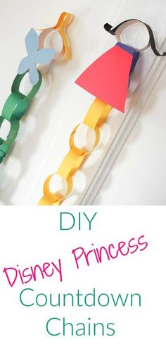 Easy DIY Disney Princess Countdown Chain - The Chirping Moms Disney Princess Crafts, Disney Crafts For Kids, Craft Activities For Kids, Preschool Activities, Craft Ideas, Disney Fun, Disney Cruise, Disney Princesses, Kids Crafts