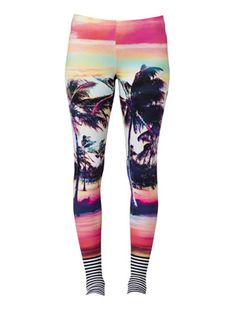 The Coolest New Pair of Summer Workout Leggings : They literally scream summer. #SelfMagazine