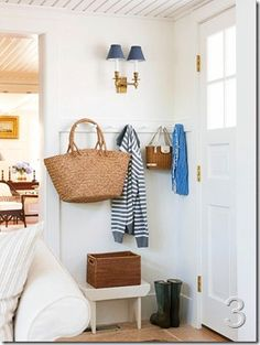 mini mudroom by the