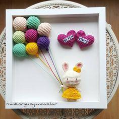 674 Likes, 40 Comments - Gülhan Uslu ( .Alpaca Family Amigurumi Crochet pattern by Lucy Collin. Find the pattern on LoveCrochet.Amigurumi Crochet Teddy Bear RPhoto Crochet in picture frameVery cute crochet deco Crochet Diy, Art Au Crochet, Bunny Crochet, Crochet Mignon, Love Crochet, Crochet Gifts, Crochet Dolls, Mobiles En Crochet, Crochet Mobile