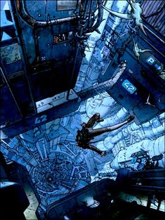 Cyberpunk Atmosphere, Moebius artOhhhh Indi would do this and have some sort of last minute idea of how not to DIE
