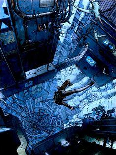Cyberpunk Atmosphere, Moebius art