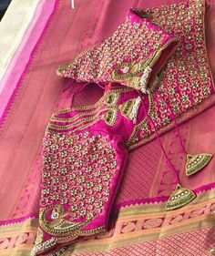 Global Market Leader in Ethnic World , We serve End to End Customizable indian Dreams That Reflect with Amazing Handmade Zardosi Art By Expert Workers , Worldwide Delivery Wedding Saree Blouse Designs, Pattu Saree Blouse Designs, Blouse Designs Silk, Designer Blouse Patterns, Embroidery Fashion, Hand Embroidery, Maggam Work Designs, Work Blouse, Sleeve Designs