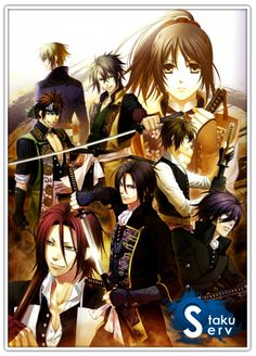 Hakuouki: This is an amazing story and so sad at the same time. Chizuru's father has gone missing. She went to search for her father when she gets chased by rebels and witness a fight involving the Shinsengumi clan. She is taken and is a guest of the clan. However, she learns their secret and her father's secret. A long journey begins. This is more of a war/action anime (with a lot of blood), and some romance at the very end. I thought the storyline was great, and loved the main characters.