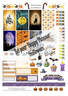 Free Printable Stickers pour Happy Planner ✯ Halloween