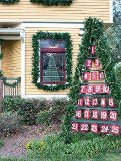 Make a big impact in your yard with an interactive, life-size Advent calendar made from an eight-foot-tall ladder and giant metal house numbers. Get the how-to instructions.