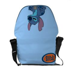 Shop Grumpy Stitch Messenger Bag created by LiloAndStitch. Personalize it with photos & text or purchase as is!