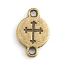 80/$3.81  143868 Wholesale Vintage Bronze Cross Connector - PURCHASED