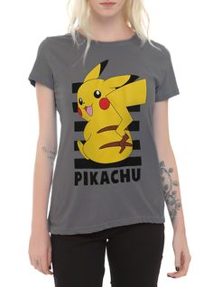 Pokemon Pikachu Stripes Girls T-Shirt   Hot Topic