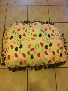 Extra Cozy Homemade dog bed by NibbleNibbleGnaw on Etsy, $20.00