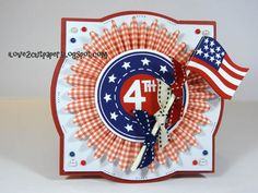 i love 2 cut paper: Happy 4th of July card