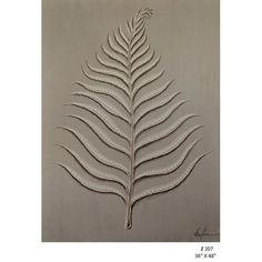 Art-venetian botantical linen fern by Zentique.