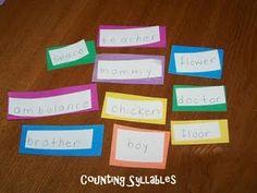 Teaching Syllables