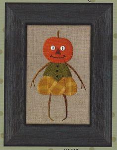 Primitive Folk Art Wool Applique Pattern:  by PrimFolkArtShop