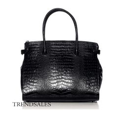 Decadent bag - black croco ❤ liked on Polyvore