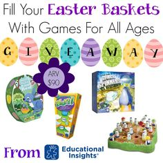 Fill Your Easter Baskets With Games For All Ages From Education Insights {GIVEAWAY PRIZE PACK}!!!