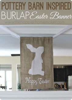 Burlap Easter Banner {Pottery Barn knock off}