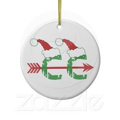 Funny Christmas Cross Country Running (2-sided) Christmas Ornament