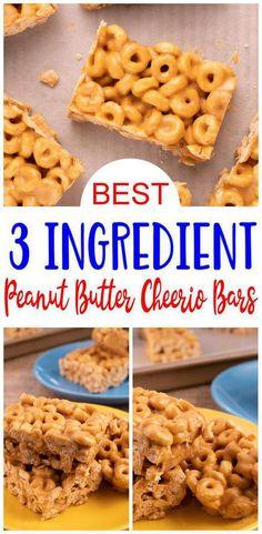 Peanut Butter Cheerio Bars, Nutter Butter Cookies, Peanut Butter Chips, Peanut Butter Recipes, Quick Dessert Recipes, Egg Free Recipes, Fun Recipes, Easy Desserts