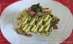 Pasta broccoli funghi e pancetta - Ricette Blogger Riunite