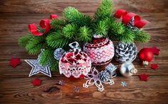 Обои Новый год, Веселый, украшение, Рождество, Дерево, Рождество, Дерево, Шары, Украшение, Веточки
