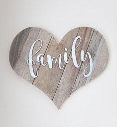 Heart-Shaped Pallet Wood Family Art