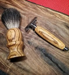 Zebra Wood Shave Set by TheCloseShave on Etsy