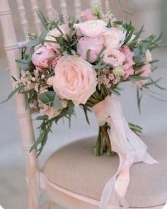 Hottest 7 Spring Wedding Flowers to Rock Your Big Day---peonies and garden roses wedding bouquet with blush ribbon and greenery, spring wedding ideas, diy wedding flowers wedding flowers Hottest 7 Spring Wedding Flowers to Rock Your Big Day Cheap Wedding Flowers, Spring Wedding Flowers, Bridal Flowers, Flower Bouquet Wedding, Floral Wedding, Ribbon Wedding, Blush Bouquet, Diy Bouquet, Boquette Flowers