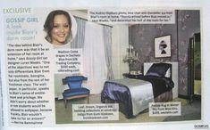 Blaire Waldorf's dorm room decor! Get inspired...   Stonehill College Dorm