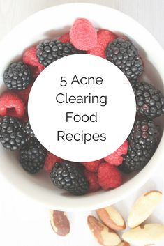 Five Acne Clearing Recipes #clearskinrecipes #acneclearingrecipes #recipes #acneclearing #healtyourfacewithfood