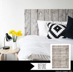 13 Ikea Before-and-afters - From woodsy fabric to artsy headboard