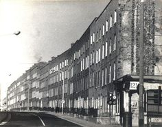 Georgian 'tall houses' in the Summerhill area of north Dublin, before demolition in the
