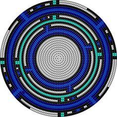 Crochet Round, Filet Crochet, Knit Crochet, Clutch Pattern, Bag Pattern Free, Crochet Blanket Tutorial, Tapestry Crochet Patterns, Tapestry Bag, Tapestry Design