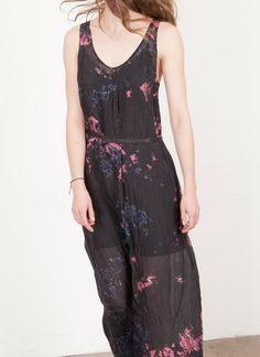 Currently coveting... Raquel Allegra — Silk Maxi Tank Dress Cosmic Black