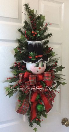 Here comes Frosty! He has quite a whimsical look about him with his crooked little smile ~~~ he ready for the Holidays! This hand painted