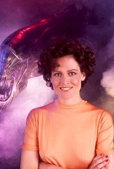 Sigourney Weaver promotional shots for the film 'Aliens,' 1986. Photo credit: Ken Regan/Camera 5