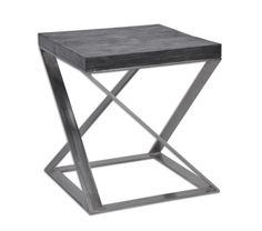 """Zeke Side Table   Dimensions 22""""H x 20""""W x 20""""D   Custom Sizing Available   45 Unique Hand-Applied Finishes   Made in USA"""