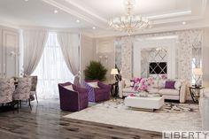 Дизайн интерьера под ключ (555)290011   Дизайн гостиной в светлых тонах. Наши дизайнеры творят красату для вас.😊 больше наших работ можно увидеть по хеш тегам #дизайнинтерьераliberty #libertyдизайн #libertyгостиные _______________________________