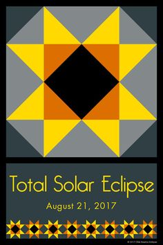 Susan Davis, owner of American Quilt Blocks and Olde America Antiques, has created a new quilt block celebrating the upcoming Solar Eclipse on August 21, 2017! Check out our Etsy store for more.