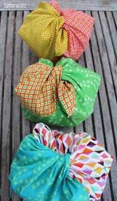 Japanese Inspired Origami Oasis Bento Bags - Tamara Kate's Free Sewing DIY   PatternPile.com