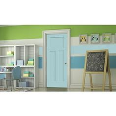 Jeld-Wen Craftsman Sea Mist Prehung Solid Core 3-Panel Craftsman Interior Door (Common: 36-In X 80-In; Actual: 37.562-In